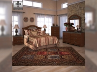 Ashley Fairbrooks Estate Panel Bedroom Set 3D Model