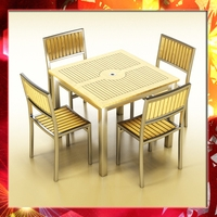 Bar Table and Chair 3D Model