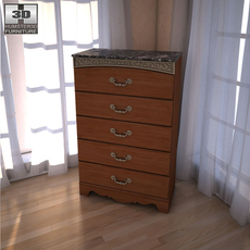 Ashley Fairbrooks Estate Panel Chest 3D Model