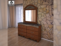 Ashley Fairbrooks Estate Panel Dresser & Mirror 3D Model