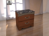 Ashley Fairbrooks Estate Panel nightstand 3D Model