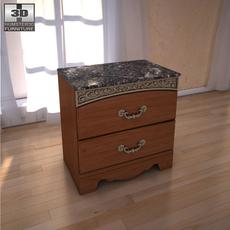 Ashley Fairbrooks Estate Panel nightstand 3D Model