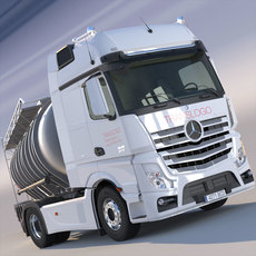Mercedes Actros MP4 GigaSpace with ADR Tanker 3D Model