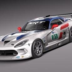 Dodge Viper GTS-R 2013 Race car 3D Model