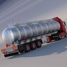 New IVECO Hi-Way Truck with ADR Tanker 3D Model