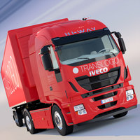 New Iveco Hi Way with refrigerated trailer 3D Model
