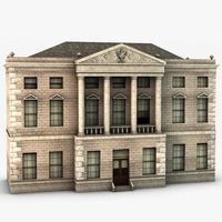 Castle ward house 3D Model