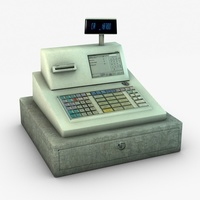 Cash Register Machine 3D Model