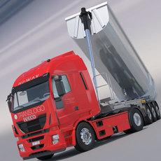 Iveco Stralis Hi Way with Aluminium Dumper Trailer 3D Model