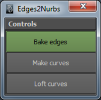 Edges to Curves 0.1.0 for Maya (maya script)