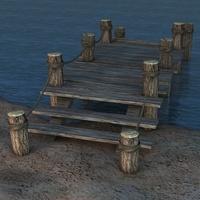 Old Broken Pier 3D Model