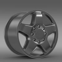 Chevrolet Silverado 2500HD LTZ 2011 rim 3D Model