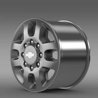 Chevrolet Silverado 3500HD 2012 rim 3D Model