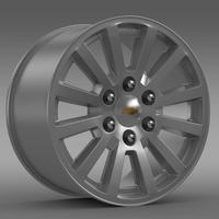 Chevrolet Tahoe Hybrid 2012 rim 3D Model