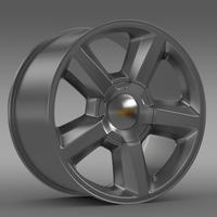 Chevrolet Tahoe 2008 rim 3D Model