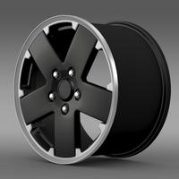 Jeep Wrangler black rim 3D Model