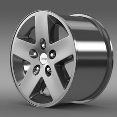 Jeep Wrangler Rubicon rim 3D Model