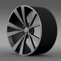 VW Beetle 2012 rim 3D Model