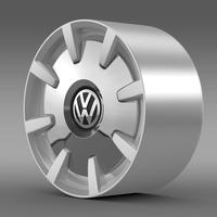 VW Beetle Design 2012 rim 3D Model
