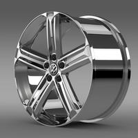 VW Beetle R Concept rim 3D Model