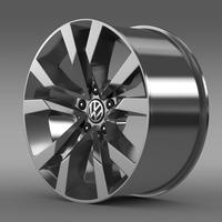 VW Beetle TDI 2012 rim 3D Model