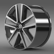 VW CrossPolo 2011 rim 3D Model