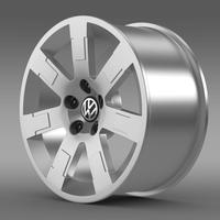 VW Polo Blue UK 2010 rim 3D Model