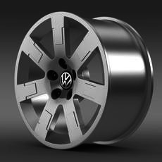 VW Polo Blue UK 2010 rim 3D Model
