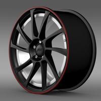 VW Beetle ABT 2012 rim 3D Model