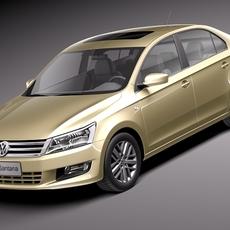 Volkswagen Santana 2014 3D Model