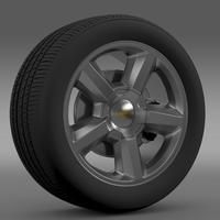 Chevrolet Tahoe 2008 wheel 3D Model