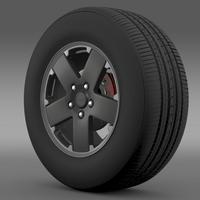 Jeep Wrangler black wheel 3D Model