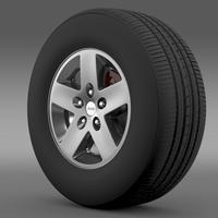 Jeep Wrangler Rubicon wheel 3D Model
