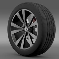 VW Beetle 2012  wheel 3D Model