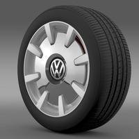 VW Beetle Design 2012 wheel 3D Model