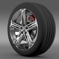 VW Beetle R Concept wheel 3D Model