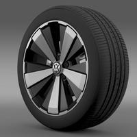 VW Beetle Turbo 2012 wheel 3D Model