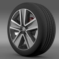 VW CrossPolo 2011 wheel 3D Model