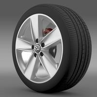 VW Polo 2010 wheel 3D Model