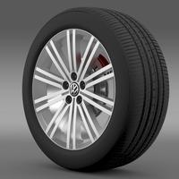 VW Polo Blue GT 2012 wheel 3D Model