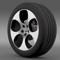 VW Polo GTI 2011 wheel 3D Model