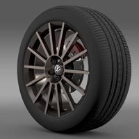 VW Polo R WRC Street wheel 3D Model
