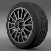 VW Polo R WRC wheel 3D Model