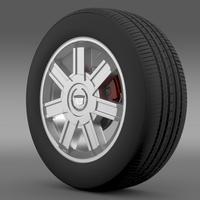 Cadillac Escalade awd 2012 wheel 3D Model