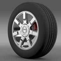 Cadillac Escalade esv 2wd1 wheel 3D Model