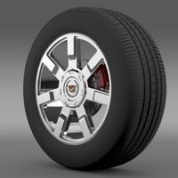Cadillac Escalade esv 2wd2 wheel 3D Model