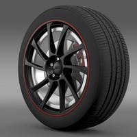 VW Beetle ABT 2012 wheel 3D Model