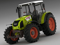 Claas Axos Tractor 3D Model