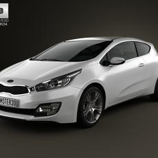 Kia Pro Ceed 2014 3D Model