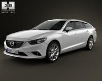 Mazda 6 wagon 2013 3D Model